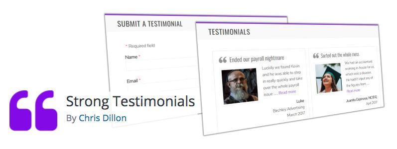 strong testimonials plugin