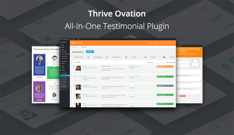 thrive ovation testimonial plugin
