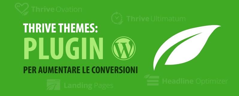 thrive themes: temi e plugin wordpress