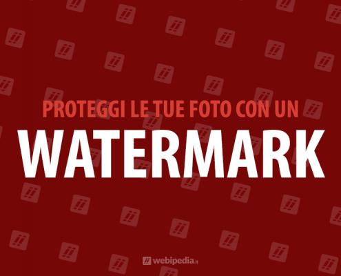 inserire watermark immagini wordpress