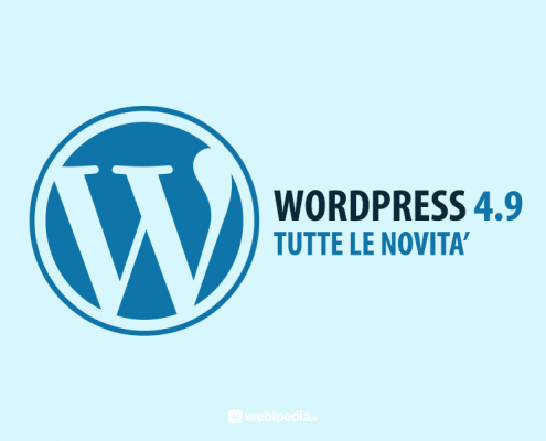 wordpress 4.9: tutte le novita