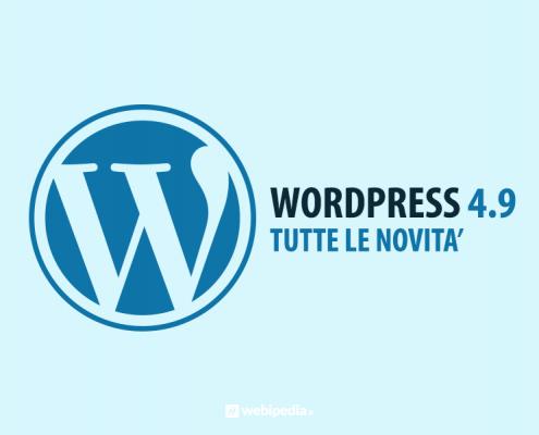wordpress 4.9: tutte le novita