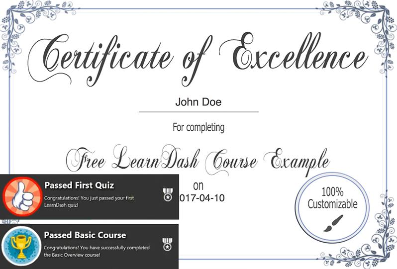 Certificati partecipazione video corsi