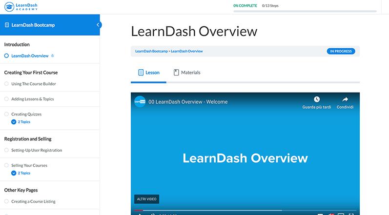 Lezione LearnDash