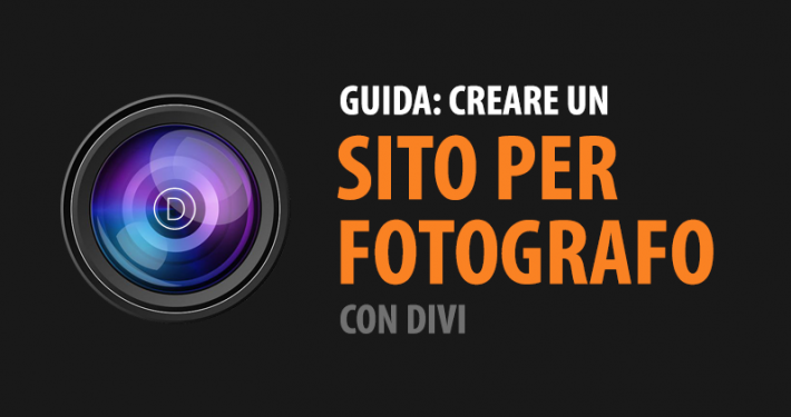 creare sito per fotografo divi